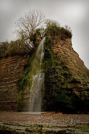 West Quantoxhead - Image: St Audries Waterfall