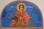 St George fresco - St George Church museum - Kyustendil..jpg