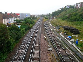 St Leonards West Marina railway station Disused railway station in East Sussex, England
