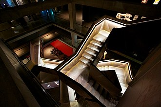 Museum of Old and New Art - A maze of staircases and tunnels lead between MONA's three levels of art display spaces.