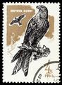 Stamp CCCP 1965 Roter Milan Milvus Milvus MiNr 3149.png