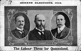 Harry Turley - 1910 Labor Senate ticket, with Turley on right