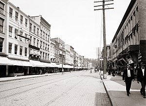 Ithaca, New York - State Street in Ithaca, ca. 1901