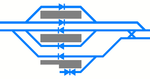 Station Track layout-Shinkansen Hakata Station 2011.png