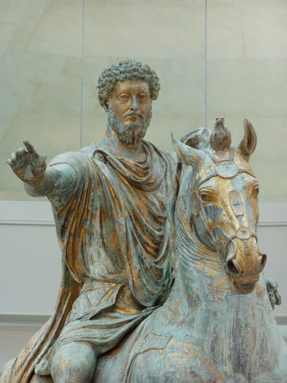 Statua Marco Aurelio Musei Capitolini Fronte