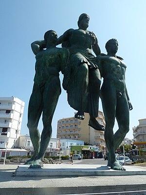 Diagoras of Rhodes - Modern statue in Rhodes city