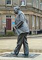 Statue of Harold Wilson, St George's Square, Huddersfield (6156191445).jpg