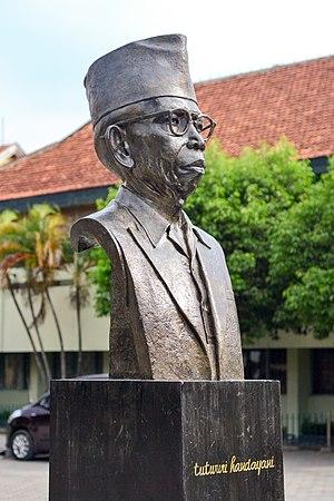 Ki Hajar Dewantara - Statue of Ki Hadjar Dewantara in front of Sekolah Tamansiswa