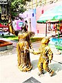 Statues of mother and daughter celebrating the Lantern Festival. Xi'an.jpg