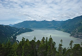 Howe Sound - Howe Sound as seen from Stawamus Chief.