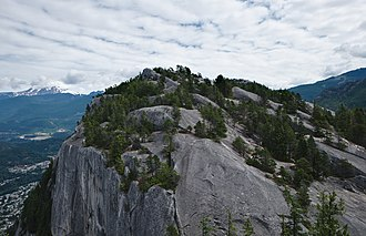 Stawamus Chief - Stawamus Chief, second peak seen from the first