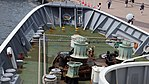 Stem of JCG Settsu(PLH-07) top view at Port of Kobe July 22, 2017.jpg