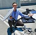 Steve Jurvetson with Starlink user terminal.jpg