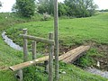 Stile, and two footbridges near Newlands Manor - geograph.org.uk - 1325653.jpg