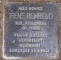 Stolperstein Arnstadt Ried 11-Irene Behrend.JPG