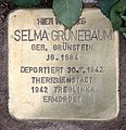 Stolperstein Kantstr 128 (Charl) Selma Grünebaum.jpg