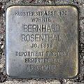 Stolperstein Karl-Liebknecht-Str 9 (Mitte) Bernhard Rosenthal.jpg