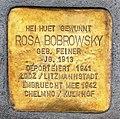 Stolperstein Rosa Bobrowsky-Feiner Esch-Alzette, 49 rue Léon Weirich 01.jpg