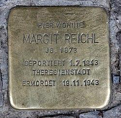 Photo of Margit Reichl brass plaque