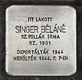 Stolperstein für Belane Singer (Celldömölk).jpg