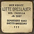 Stolperstein für Lotte Breslauer (Cottbus).jpg