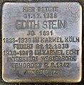 Stolpersteine Köln, Edith Stein - 1 (Vor den Siebenburgen 6).jpg