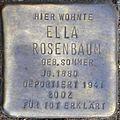 Stolpersteine Köln, Ella Rosenbaum (Dasselstraße 37).jpg