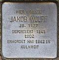 Stumbling block for Jakob Wolff (Im Weichserhof 8)