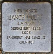 Stolpersteine Köln, Jakob Wolff (Im Weichserhof 8).jpg
