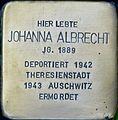 Stolpersteine Köln St Apern 29 31 Stolperstein Johanna Albrecht.jpg