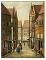 Straat in Delft Albertus Brondgeest naar Jacobus Vrel, SA Delft, inv.nr.65127.jpg