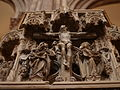 Strasbourg- Crucifixion group on the Cathedral's pulpit.jpg