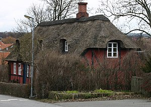 Aaby, Aarhus - Image: Street at Aaby 2
