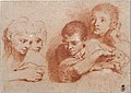Studies of a Boy and a Girl (recto) Studies of Legs (verso) MET DT11010.jpg