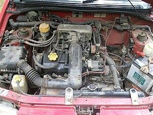 Subaru EF engine - EF12 MPFI engine in a 1993 Subaru Justy