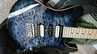 Suhr Guitars - Suhr Modern, whale blue maple top.