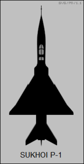 Sukhoi P-1 top-view silhouette.png