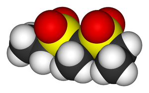 Sulfonmethane - Image: Sulfonal 3D vd W
