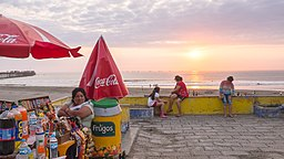 Sun Setting over the Beach of Pimentel District, Chiclayo, Peru.jpg