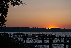 Sunset over North Beach, Maryland.jpg