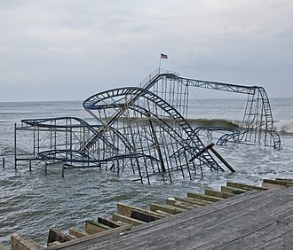 Star Jet - Image: Superstorm Sandy damage in Seaside Heights New Jersey Star Jet 1