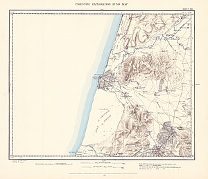 Yazur - Image: Survey of Western Palestine 1880.13
