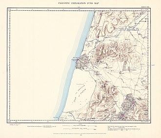 Yazur - Image: Survey of Western Palestine 1880.13