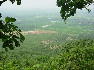 Susunia - View of eastern side of the hill from the top