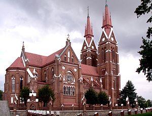 Švėkšna - Image: Sveksnabaznycia