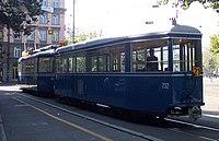 Swiss Standard trams at Gessnerallee on museum route 21 crop.jpg