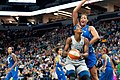 Sylvia Fowles looks for an opening and is guarded by Liz Cambage.jpg