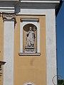 Szent István király templom, Szent István fülkeszobor, 2017 Abony.jpg