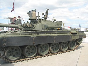 An upgraded T-72 by ATE South Africa features two conspicuous sights