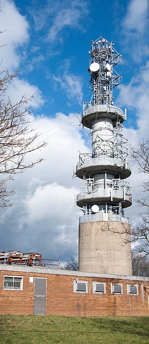 Tinshill BT Tower - Tinshill BT Tower on 5 March 2016 with large dishes removed